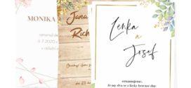 Originální svatební oznámení, jmenovky a kartičky jako první krok
